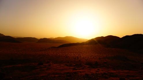 Wadi Rum, zonsondergang