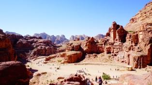 Uitzicht op Petra