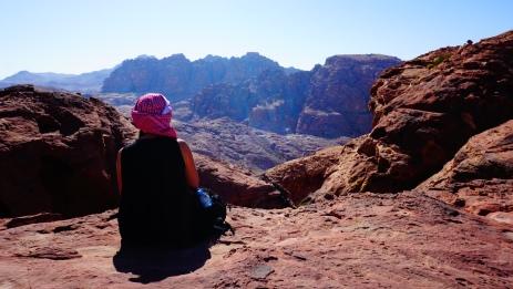 Petra, uitzicht vanaf de Hoge Offerplaats