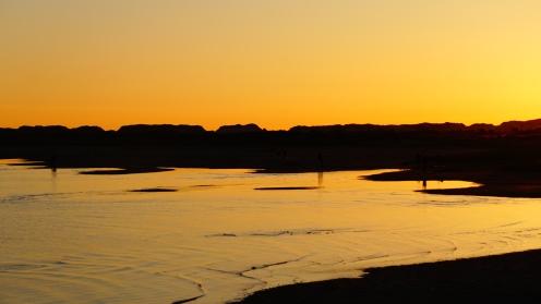 Zonsondergang bij Groene Strand