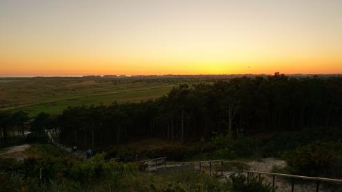 Zonsondergang vanaf Seinpaalduin