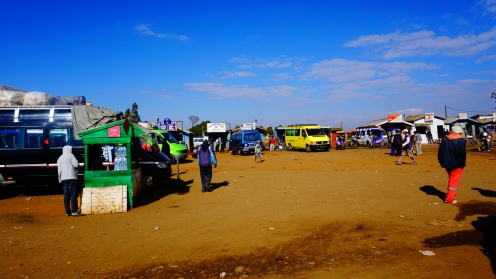 Antsirabe, taxi brousse station