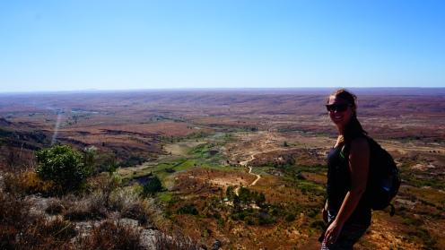 Isalo NP, uitzicht op Ranohira