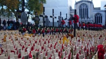 Poppy Day bij Westminster Abbey